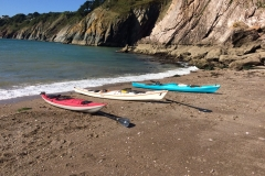 Sea kayaking holidays secret beach near dartmouth
