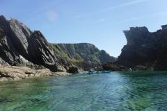 Coastline view sea kayaking holidays