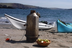 Kelly kettle and lunch sea kayaking holidays