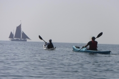 sea kayaking holidays Brixham Trawler