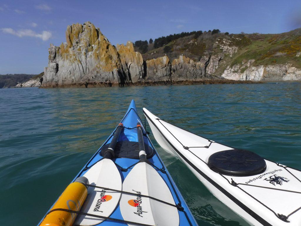 Family sea kayaking holiday