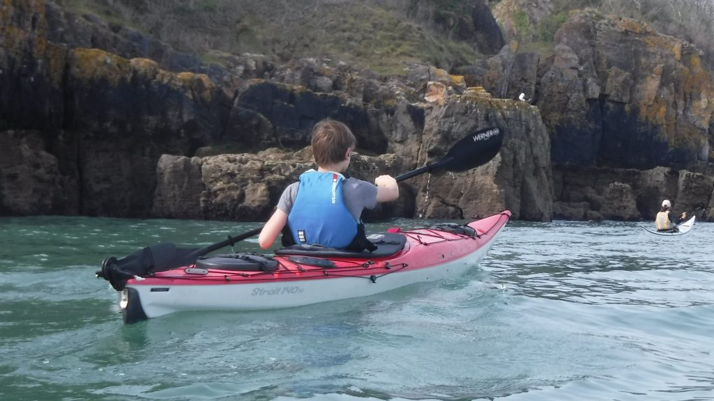 Family sea kayaking activity holidays Devon